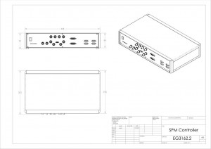 SPM Piezo Stage Controller EG3000 drawing